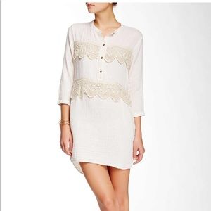 Gypsy 05 NWT Crochet Trim Tunic Dress Large